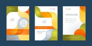Sistema abstracto de la plantilla del negocio del vector La disposición del folleto, cubre el informe anual del diseño moderno, c stock de ilustración