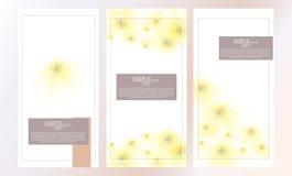Sistema abstracto del diseño de la plantilla de la flor de la acuarela del vector Fotos de archivo