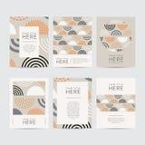 Sistema abstracto del folleto del diseño ilustración del vector