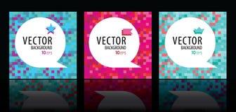 Sistema abstracto del fondo del vector Imagen de archivo libre de regalías