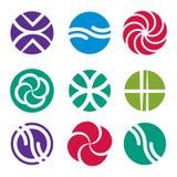Sistema abstracto del icono, colección de los símbolos del vector Fotos de archivo