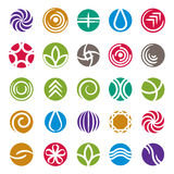 Sistema abstracto del icono, colección de los símbolos del vector Fotografía de archivo libre de regalías