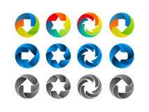 Sistema abstracto del icono del color Fotografía de archivo