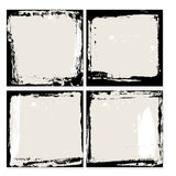 Sistema abstracto del marco del grunge Plantilla negra y beige del fondo Vector Imagen de archivo