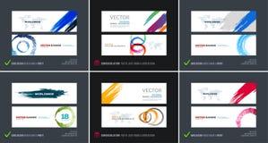 Sistema abstracto del vector de banderas horizontales modernas del sitio web libre illustration
