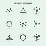 Sistema abstracto del vector del logotipo del inconformista stock de ilustración