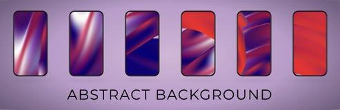 Sistema abstracto ondulado del ejemplo del smartphone del vector stock de ilustración