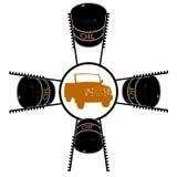 Sistema abstrato do pistão do veículo Imagem de Stock