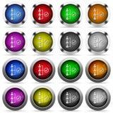 Sistema acertado del botón del trabajo en equipo Foto de archivo
