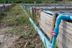 sistema a acqua nel campo agricolo fertile per la piantatura organica Immagine Stock Libera da Diritti