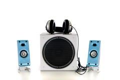 Sistema acustico ad alta fedeltà 2.1 Immagine Stock