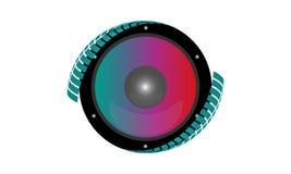 Sistema acustico di Colorfull illustrazione di stock
