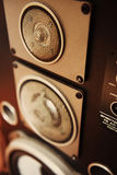 Sistema acustico sovietico - buon suono Fotografia Stock Libera da Diritti