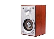 Sistema acustico stereo isolato su fondo bianco Immagini Stock Libere da Diritti