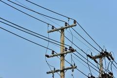 Sistema ad alta potenza del trasporto di energia della torre Immagini Stock