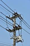 Sistema ad alta potenza del trasporto di energia della torre Immagine Stock