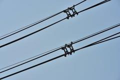 Sistema ad alta potenza del trasporto di energia della torre Fotografia Stock Libera da Diritti
