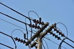 Sistema ad alta potenza del trasporto di energia della torre Fotografia Stock