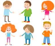Sistema adolescente de los caracteres de la hormiga feliz de los niños de la historieta libre illustration