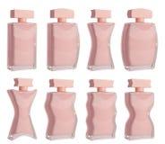 Sistema aislado de la botella de perfume Foto de archivo libre de regalías