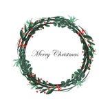 Sistema aislado de la guirnalda de la Navidad Foto de archivo