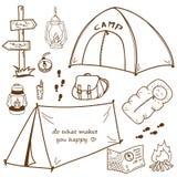 Sistema al aire libre dibujado mano Imágenes de archivo libres de regalías