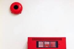 Sistema alarma de incendio Imágenes de archivo libres de regalías