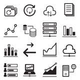 Sistema analítico del icono del gráfico Imágenes de archivo libres de regalías