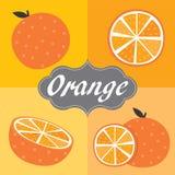 Sistema anaranjado de la fruta Imagen de archivo libre de regalías