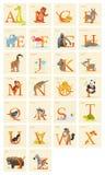 Sistema animal del alfabeto Foto de archivo libre de regalías