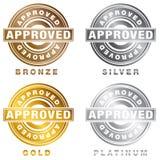 Sistema aprobado platino de plata de bronce del sello del oro libre illustration