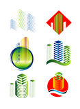Sistema arquitectónico del logotipo del edificio libre illustration