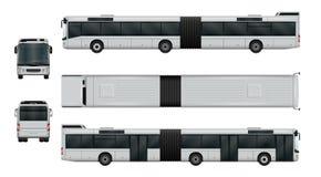 Sistema articulado del autobús de la ciudad Foto de archivo libre de regalías