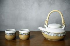 Sistema asiático del pote del té de la cultura Fotografía de archivo libre de regalías