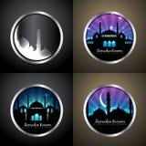 Sistema atractivo del fondo del vector de illu del festival del kareem del Ramadán stock de ilustración