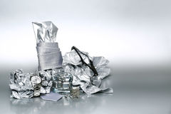 Sistema atractivo y de moda, accesorios de plata para el hombre de negocios X Imagen de archivo