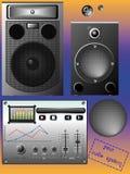 Sistema audio Foto de archivo libre de regalías