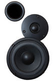 Sistema audio de alta potência preto Imagem de Stock Royalty Free