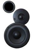 Sistema audio de alta potencia negro Imagen de archivo libre de regalías