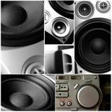 Sistema audio de la música imagen de archivo libre de regalías