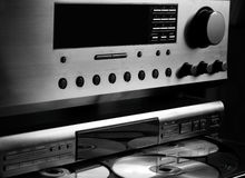 Sistema audio del Hola-Fin Imagen de archivo libre de regalías