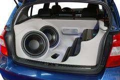 Sistema audio do carro fotografia de stock