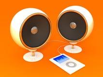 Sistema audio e jogador Fotos de Stock Royalty Free