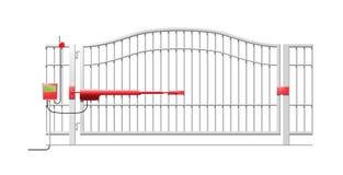 Sistema automático da porta ilustração stock