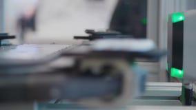 Sistema automático de la prueba con los detalles de exploración del laser en transportador metrajes