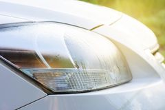 Sistema automobilistico della luce anteriore del ` s con luce fotografia stock libera da diritti