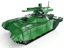 Sistema automotor antiaéreo autónomo militar 3d rinden libre illustration