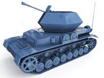 Sistema automotor antiaéreo autónomo militar 3d rinden stock de ilustración