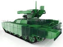 Sistema automotor antiaéreo autónomo militar 3d rinden ilustración del vector