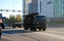 Sistema automotor do foguete e da arma do míssil terra-ar Armour-C1 do russo imagens de stock royalty free